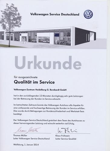 Urkunde Service